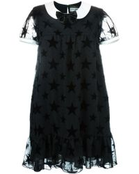 Saint Laurent | Babydoll Star Dress | Lyst