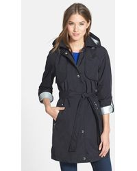 Laundry by Shelli Segal Women'S 'Drip Drop' Hooded Trench Coat - Lyst