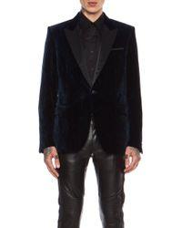 Versace Velvet Animal Print Evening Cotton Jacket - Lyst