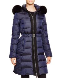 Diane von Furstenberg | Jackie Iridescent Down Coat With Fox Fur - Bloomingdale's Exclusive | Lyst