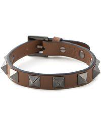 Valentino Brown 'Rockstud' Bracelet - Lyst