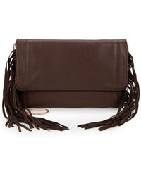Deux Lux Fringed Faux Leather Clutch Bag - Lyst