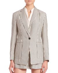 3.1 Phillip Lim | Striped Fringe-pocket Blazer | Lyst