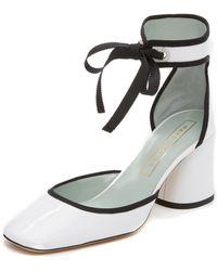 Marc Jacobs Elle Ankle Strap Pumps - White