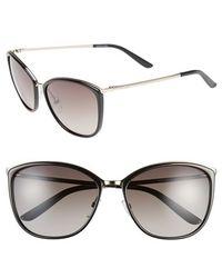 Max Mara Women'S 'Classy I/S' 58Mm Retro Sunglasses - Light Gold/ Black - Lyst