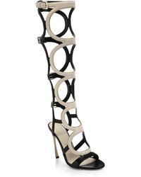 Sergio Rossi Arabe Knee-High Leather Gladiator Sandals - Lyst