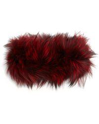 Adrienne Landau - Fox Fur Headband - Lyst