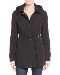 CALVIN KLEIN 205W39NYC - Belted Hooded Quilted Coat - Lyst