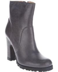 MM6 by Maison Martin Margiela Block Heel Boot gray - Lyst