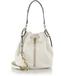 Elizabeth And James Cynnie Leather & Python-Embossed Bucket Bag - Lyst