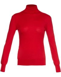 Emilia Wickstead - Merino-wool And Cashmere-blend Roll-neck Sweater - Lyst