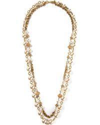 Yves Saint Laurent Vintage Two Raw Sautoir Necklace - Lyst