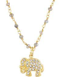 Sonya Renee Jewelry - Elephant Pendant On Beaded Chain - Lyst