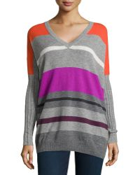 Autumn Cashmere Cashmere Striped Pullover Sweater - Lyst