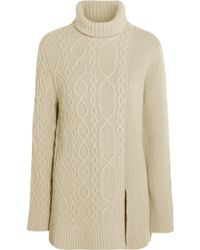 Mulberry Aran Merino Wool and Cashmere-blend Sweater white - Lyst