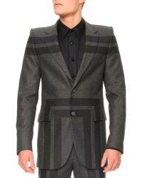 Alexander McQueen Wool Rectanglepatch 2button Blazer - Lyst