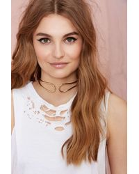 Nasty Gal Live Wire Collar Necklace - Lyst