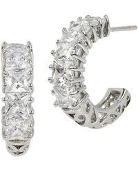 Betsey Johnson Cubic Zirconia Hoop Earrings - Metallic