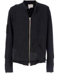 Greg Lauren Patchwork Zipped Sweatshirt - Lyst