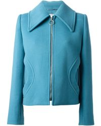 Carven Oversize Collar Jacket - Lyst
