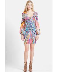 Emilio Pucci Print Silk Georgette Dress - Lyst