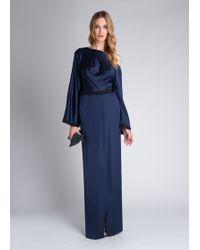 Amanda Wakeley Sayo Wrap-front Silk Gown - Lyst