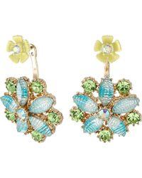 Betsey Johnson | Spring Ahead Flower Front/back Earrings | Lyst