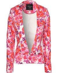 Jane Norman Print Blazer Jacket - Lyst