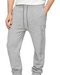 Calvin Klein Jeans Modern Fit Knit Logo Pants - Lyst