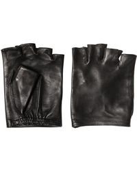 John Varvatos - Nappa Leather Fingerless Gloves - Lyst