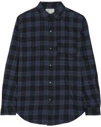 Current/Elliott The Prep School Plaid Cotton-flannel Shirt - Lyst