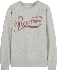 Etoile Isabel Marant Revolution Printed Cotton-Blend Sweatshirt - Lyst