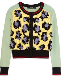 Sibling - Sequined Stretch-knit Cardigan - Lyst