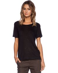 Vince Square Detail Tee - Lyst