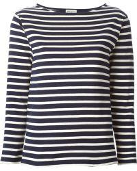 Saint Laurent Striped T-Shirt - Lyst