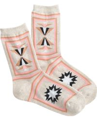 J.Crew Richer Poorer® Abstract Socks - Lyst