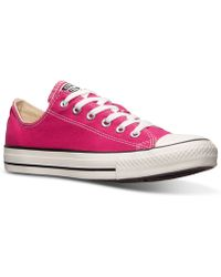 Converse Womens Chuck Taylor Ox Casual Sneakers From Finish Line - Lyst