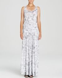 Three Dots Brushstroke Print Maxi Dress - Lyst