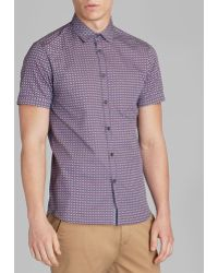 Ted Baker Breath Circle Print Button Down Shirt - Regular Fit - Lyst