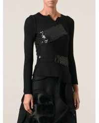 Junya Watanabe Ribbed Sequin Detail Sweater - Lyst