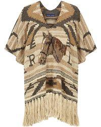 Ralph Lauren Blue Label Ranch Blanket Poncho - Lyst