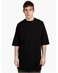 DRKSHDW by Rick Owens Men'S Black Jumbo T-Shirt black - Lyst