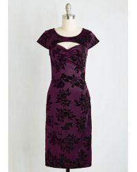 ModCloth | Dear Fiery Dress In Amethyst Floral | Lyst