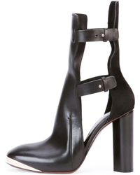 Costume National Cutout Leather Ankle Bootie - Lyst
