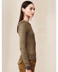 Ralph Lauren Ribbed Silk-Cashmere Sweater - Lyst