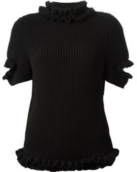 Christopher Kane Ruffled Detail Sweater - Lyst
