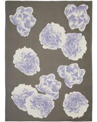 Jonathan Saunders - Purple Floral Silk Scarf - Lyst