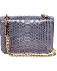 Zagliani Odette Shiny Python Shoulder Bag - Lyst
