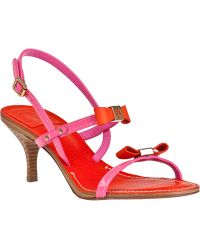 Tory Burch Kailey Sandal Tory Fire Orange/Flamingo Patent red - Lyst