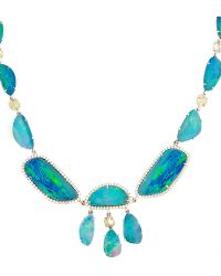 Nina Runsdorf | 18K White Gold Opal Necklace | Lyst